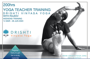 200hrs Vinyasa Yoga Teacher Training - Weekends with Rajeev Mar - Jun 2020